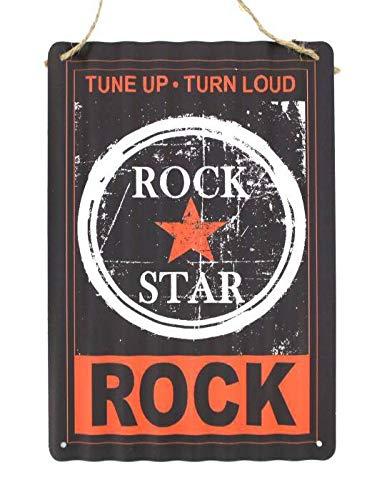 Crack Hogar Placas De Metal 20x30 Ondulada Vintage Placa metálica para la...