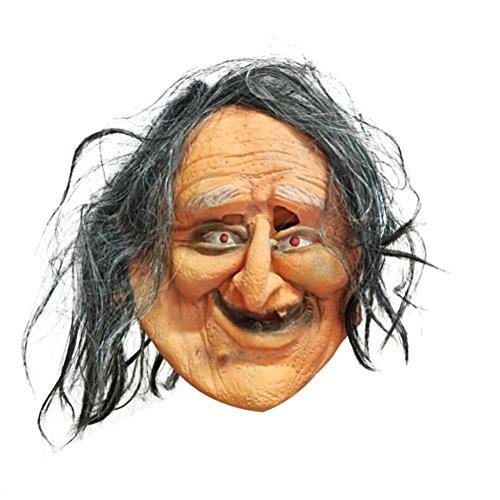 BESTOYARD Halloween Maske Horror Hässliche alte Dame Gelatine Maske Unisex Ghost Festival Atmosphäre liefert Halloween Dekoration