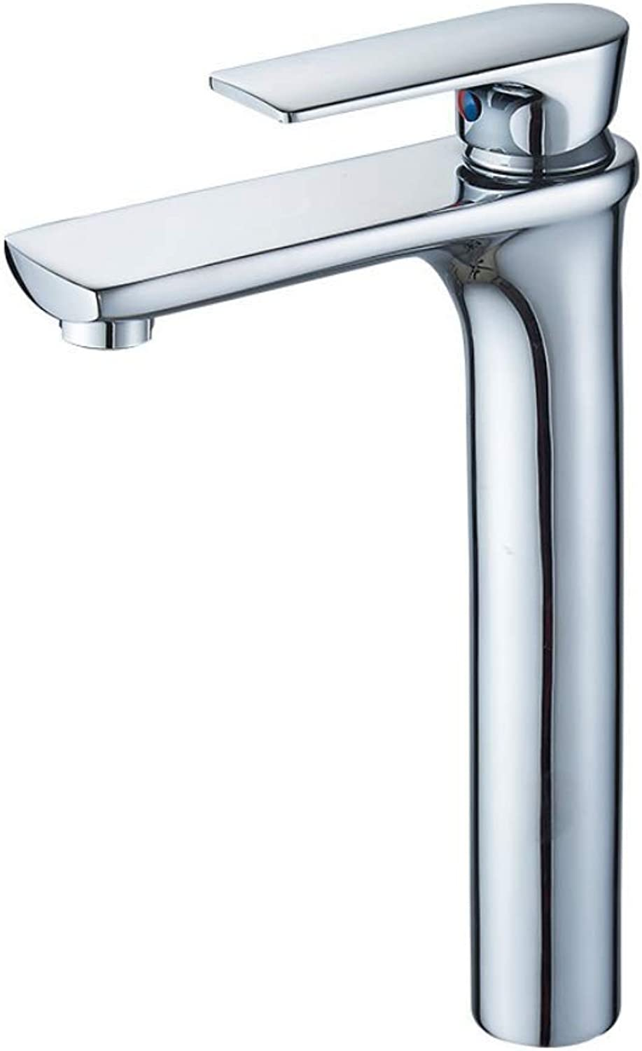 GWX Bathroom Basin Mixer, Sink Faucet Chrome Finish Standing Copper Material Bathroom Water Tap, Contemporary Washbasin Mixer