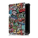 Fmway PU Leder Flip Cover Hülle mit Auto Schlaf/Wach Funktion Hülle Tasche für Pocketbook Touch HD 3 / Touch Lux 4/ Basic Lux 2
