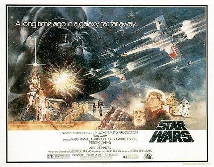 Póster Star Wars 'A New Hope/Una nueva esperanza' Estilo 'A' Mitad de Hoja (95,5cm x 69cm) + 1 paquete de tesa Powerstrips® (20 tiras)