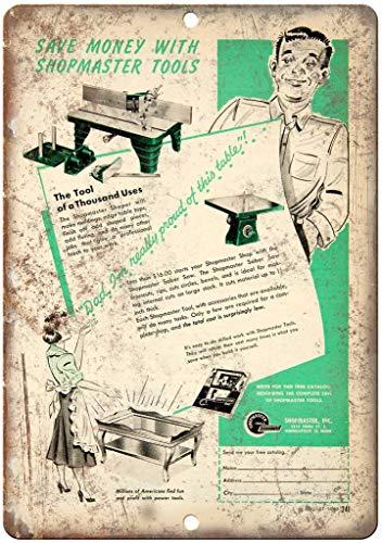 Shopmaster Inc Saber Saw Tools Blechschild Retro Warnschild Vintage Metall Poster Plakette Eisen Malerei Kunst Dekor für Home Cafe Garden Pub Büro 30x20 cm