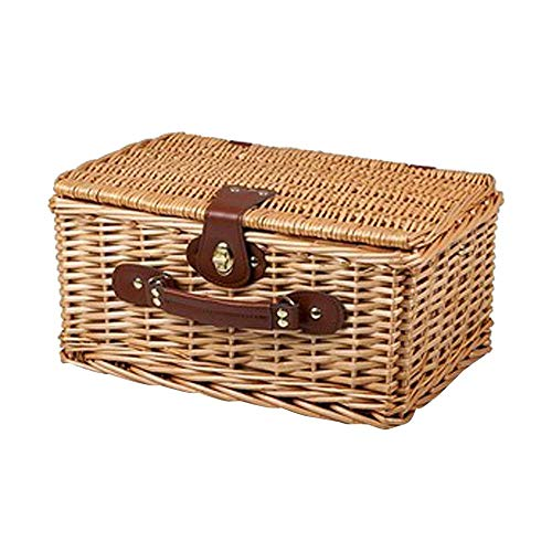 Viner Fruit Food Wicker Picknickmand Willow Storage Geweven rieten mand met deksel