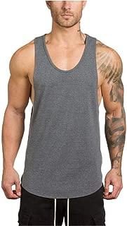 YOcheerful Men's Vest Tank Top Gym Muscle Sleeveless Sportswear Sports Shirt Top