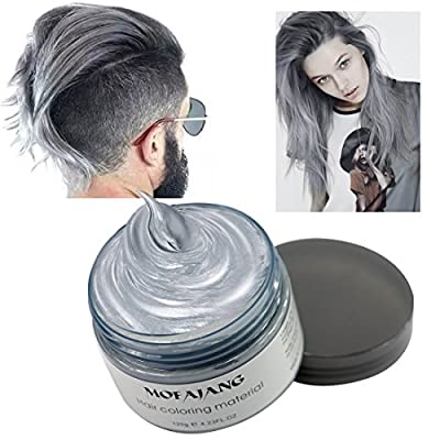 Hair Coloring Wax, Disposable Instant Matte Hairstyle Mud Cream Hair Pomades for Kids Men Women to Cosplay Nightclub Masquerade Transformation