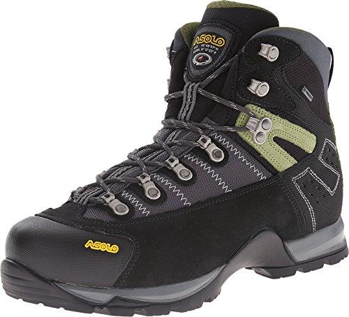 Asolo Men's Fugitive GTX Hiking Boots, Black / Gun Metal, 8.5 D(M) US