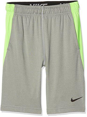 Nike B Dry Tennis Polo, Kinder XL Grau (grau meliert/Geistgrün/schwarz)