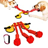 Dog Chew Toys for Aggressive Chewers - New Upgrades Dog Puzzle Interactive Powerful Suction Cup Toy with 180 lbs/81KG Training Treats Rope Chewers for Boredom for Puppy Small Large Pet Dog Bolt.