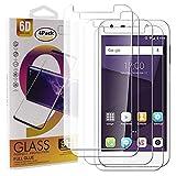 Guran 4 Paquete Cristal Templado Protector de Pantalla para ZTE Blade A6 Smartphone 9H Dureza Anti-Ara?azos Alta Definicion Transparente Película