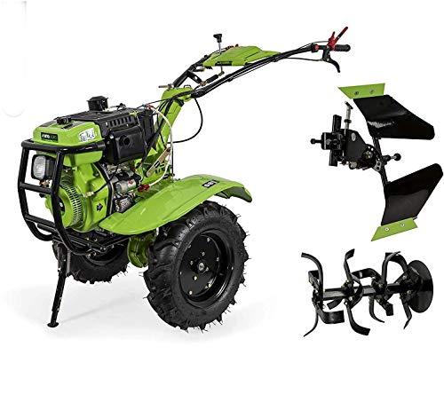 VITO 12PS Diesel E-Starter Einachsschlepper Motorhacke Direktantrieb - Pflug + Bodenfräse 135cm Arbeitsbreite
