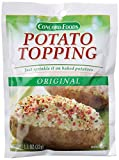 1.1oz size Package Weight: 0.036 kilograms Ingredients: 'SOY PROTEIN BITS (SOY FLOUR, CARAMEL COLOR, RED 3), DEHYDRATED POTATOES (POTATOES, MONOGLYCERIDES; SODIUM ACID PYROPHOSPHATE, SODIUM BISULFITE, AND CITRIC ACID TO PRESERVE COLOR AND FLAVOR), DE...