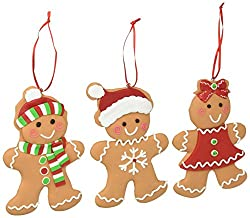 cute gingerbread christmas ornaments time for the holidays. Black Bedroom Furniture Sets. Home Design Ideas