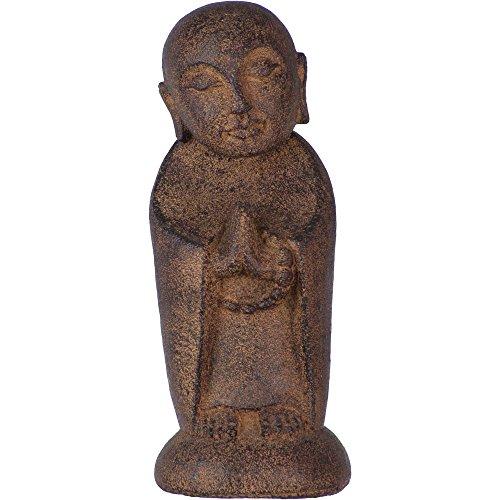 (Braun) – Vulkan-Stein-Statue Jizo Buddha, Braun (jeweils)