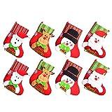 YQing Medias de Navidad, 8 Piezas Christmas Stocking Calcetines Decoración Navideña...