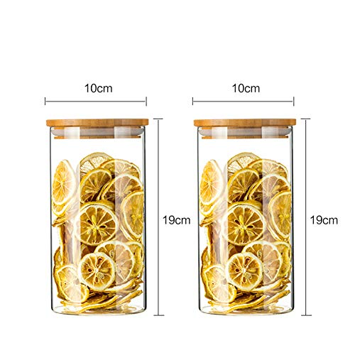 Granen Container Glazen Potten Opslag Containers Behoud voor Droog Voedsel Melk Poeder Koffiebonen Gedroogd Fruit Duidelijke Opslag Containers Thee Opslag Pot Glazen Fles Potten Oven Magnetron Vriezer Veilig 1000ML x2