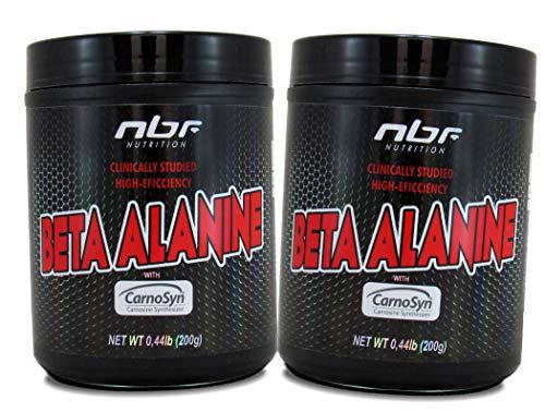 2x Beta Alanina Importada 200g + 200g - 100% Pura Pré Treino FRETE GRÁTIS