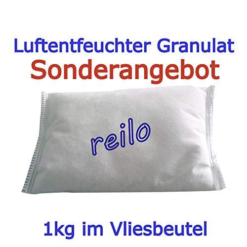 10x 1kg Luftentfeuchter Granulat (Calciumchlorid) im Vliesbeutel, für Raumentfeuchter Boxen 900g - 1,2kg, einzeln verpackt in Polybeutel