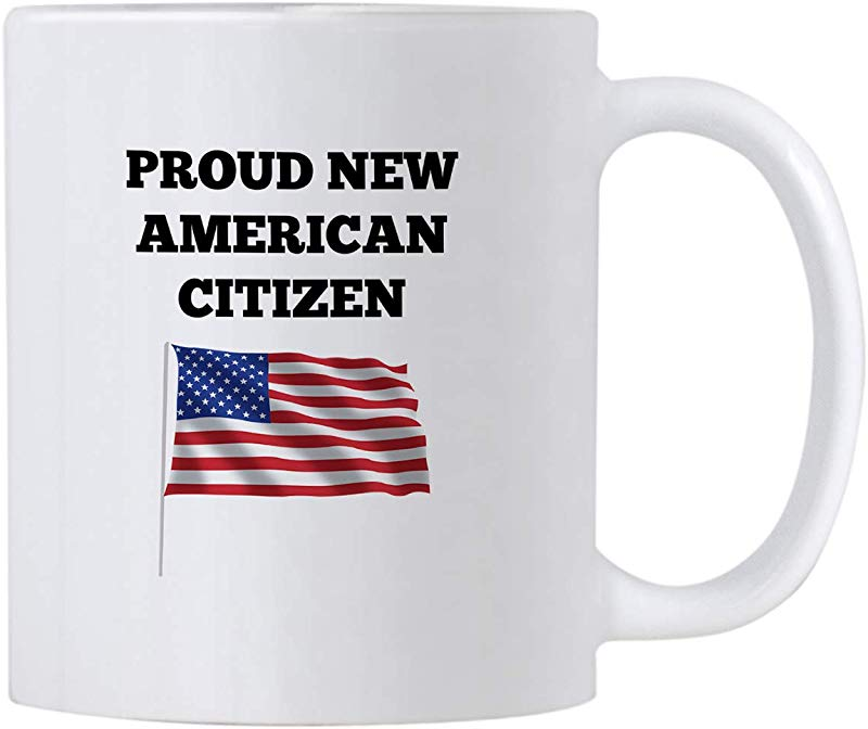Casitika US American New Citizenship Gifts 11 Oz USA Flag Mug Gift Idea For Proud Citizens