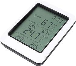 Jeanoko Termohigrómetro electrónico de Temperatura y Humedad con Stent para Laboratorio doméstico