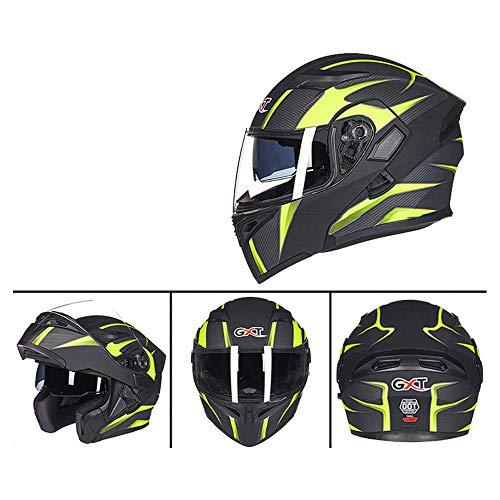 Double Objectif Anti-Brouillard Casque De Sécurité Casque Moto Électrique Casque Quatre Saisons Casque,L