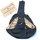Pet Sling Carrier Dog Bag | Reversible and Hands-Free | Adjustable Strap