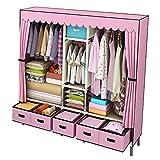 LICHUAN Armario combinado para colgar ropa económica simple para el hogar, dormitorio, tela de cocina, armario con cajones (color: A)