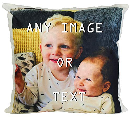 Hippowarehouse Personalised Cushion Cover Any Text Image Photo Here Printed Accessory Cover 41x41cm
