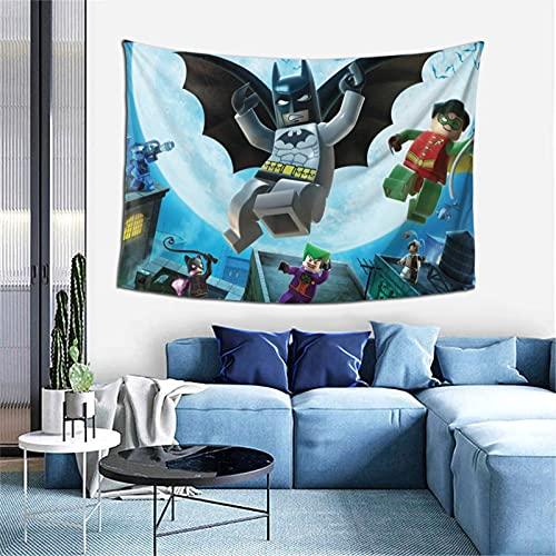 Lego Batm-an Leg-o Le-go Batm-an - Tapiz de tamaño mediano, adecuado para dormitorio, sala de estar, pared de 152 x 102 cm