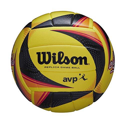 Wilson Volleyball OPTX AVP VB REPICA NYC, Für Outdoor-Nutzung, Synthetik, Offizielle Größe, gelb, WTH01120XB
