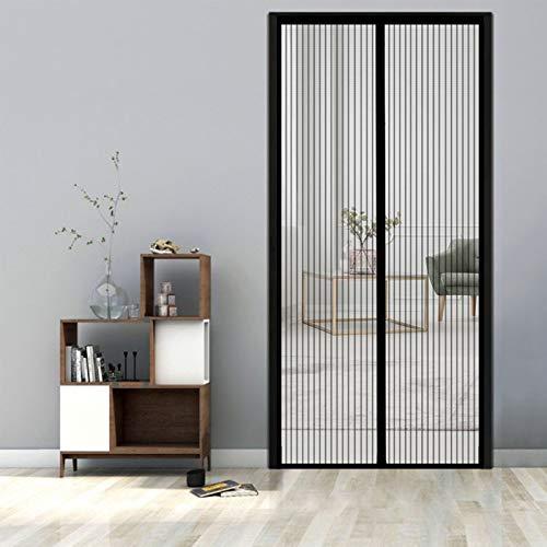 GUODIU Magnetic Fly Insect Screen Door 95x230cm Polyester Mesh Curtain Top-to-Bottom Seal Automatically for Balcony Door, Living Room, Cellar Door, Patio Door, Black