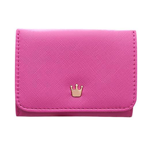 TTLOVE Mini Portemonnaie Frauen I Damen-Geldbörse Decorated I Innovativer Mini Frauen-Geldbeutel Brieftasche I Kartenetui (Wassermelonenrot)
