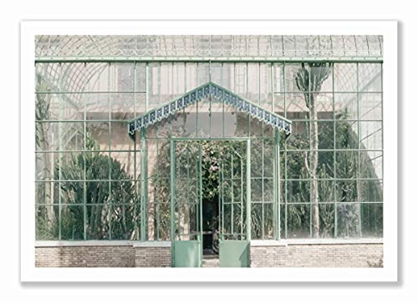 Green House Black Satin Aluminium Frame, Full Size, Multicolored, 60x90