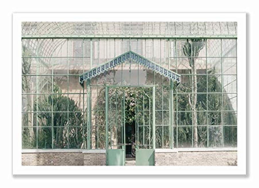 Green House Black Satin Aluminium Frame, Full Size, Multicolored, 30x40