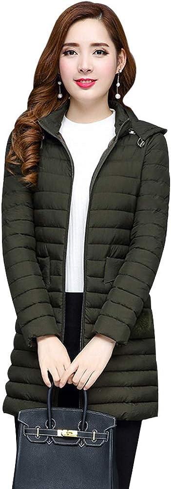 ZEVONDA Ladies Winter Coat Elegant Quilted Lightweight Cotton Padded Jackets
