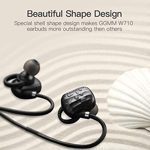 GGMM In-ear Bluetooth Earbuds Noise Cancelling wireless Earphones with Mic Volume Adjustable Sports Headphones Bluetooth 4.1 Stereo Audio Bluetooth headset Sweat-proof Bluetooth Earphones for Exercise