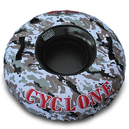 """Flexible Flyer Cyclone Heavy Duty Snow Tube. Round Inflatable Sled. 48"""" Sno Slider"""
