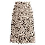 N\P Falda de mujer de encaje de gran tamaño cintura elástica una línea delgada faldas femeninas