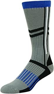 Western Socks Boys Mid Calf Performance L Blue Gray 1671FC2YL