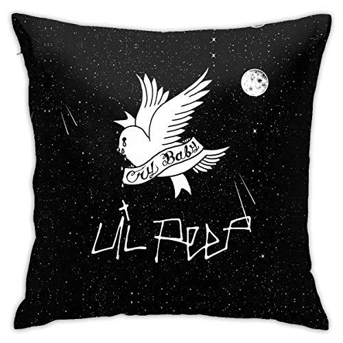 EOPRO Lil Peep - Fundas de almohada para sofá, dormitorio, coche, funda de cojín de lectura, 45,7 x 45,7 cm