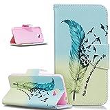 Coque Huawei Y5 II,ikasus Papillon fleur peint coloré Motif PU Portefeuille Folio...