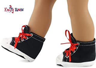 Emily Rose 18 Inch Doll Clothes/Clothing Black High Top Sneakers Fits American Girl Dolls