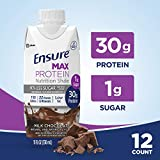 Ensure Max Protein Nutrition Shake with 30g of protein, 1g of Sugar, High Protein Shake, Milk...