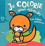 Les bébés animaux - Bloc de coloriages aux contours épais pailletés et en relief - dès 2 ans