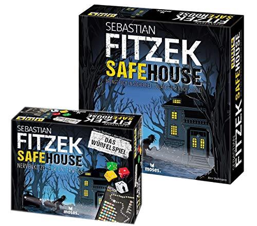 Safehouse Sebastian Fitzek 2er Set - Das Spiel + Würfelspiel Gesellschaftsspiel Unterwegs