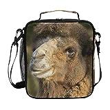 Bolsa térmica para el almuerzo, diseño de camello dromedario, con correa para el hombro, ideal para mujeres, hombres, niños, niñas, grandes bolsos de oficina, escuela