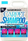 Pro-Kleen Professional Carpet & Upholstery Shampoo – Ocean Fresh Fragrance 5L - High Concentrate...