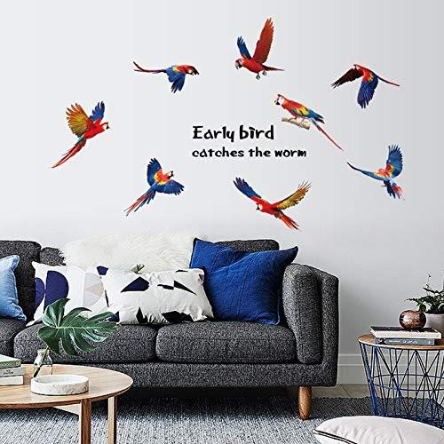 Flying Parrot Extraíble Ecológico Sala De Estar Dormitorio Cocina Decoración Muebles Azulejo Mural Pegatinas De Pared Calcomanía Cartel