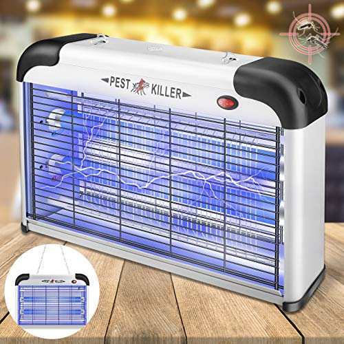 Bug Zapper,Allinall Indoor Mosquito Zapper Lamp 20W Fruit Flies Pests Moths Gnat Killer Mosquito Trap with UV Lamp Insect Fly Traps Light Electric Bug Zapper for Indoor/Outdoor/Home/Kitchen/Patio