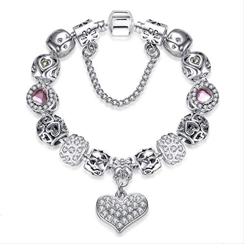 DODO.GOGO Fashion Love Pink Beads Bracelet Female