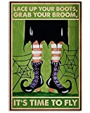 Hunter Direct Retro Lace Up Your Boots Poster Wall Art Home Decor Gifts for Lovers Painting (No Frame)